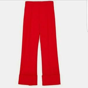 Zara wide hem pants